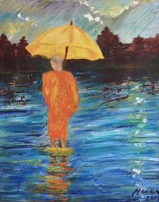 Monsoon Walk Art Print by Neena Alapatt