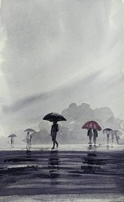 Painting - Monsoons by Asha Sudhaker Shenoy