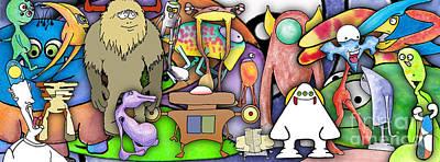 Digital Art - Monster Banner - Digital Collage by Uncle J's Monsters