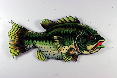 Monster Bass Print by Bob Crawford