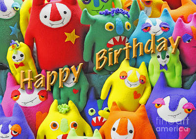 Photograph - Monster Birthday Card by Nancy Greenland