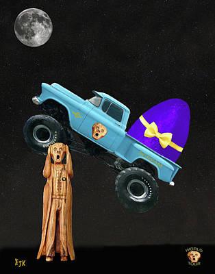 Monster Easter Eggs Art Print