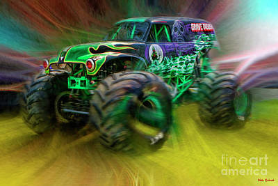 Photograph - Monster Jam Grave Digger by Blake Richards