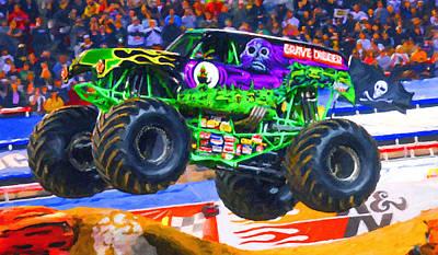 Monster Jam Grave Digger Art Print
