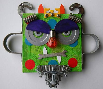 Mixed Media - Monster King by Jen Hardwick