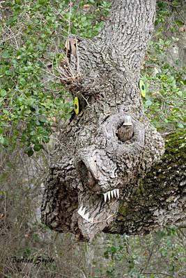 Green Monster Painting - Monster Oak Tree by Barbara Snyder