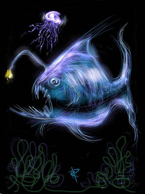 Digital Art - Monster Of The Deep by Russell Pierce