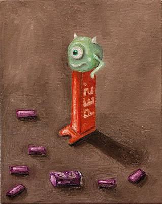 Monster Pez Art Print by Leah Saulnier The Painting Maniac