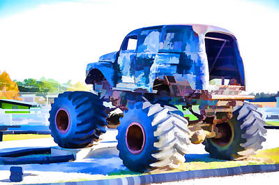 Monster Truck 1 Art Print by Lanjee Chee