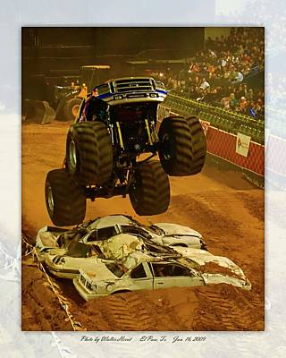 Photograph - Monster Truck 2a by Walter Herrit