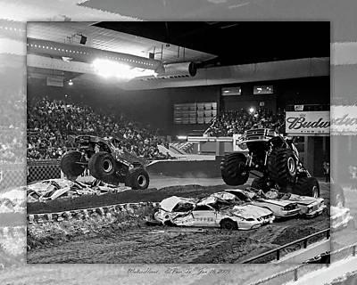 Photograph - Monster Truck 3b by Walter Herrit