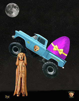 Monster Truck Art Print by Eric Kempson