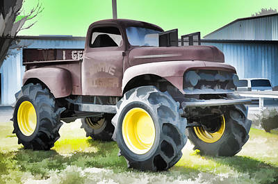 Monster Truck - Grave Digger 3 Art Print by Lanjee Chee