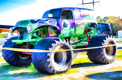 Monster Truck - Grave Digger  Art Print by Lanjee Chee