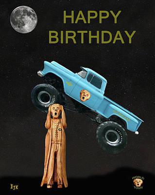 Monster Truck The Scream World Tour Happy Birthday Art Print