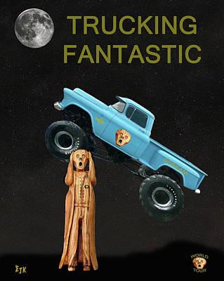 Monster Truck The Scream World Tour  Trucking Fantastic Art Print