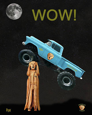 Monster Truck The Scream World Tour Wow Art Print by Eric Kempson