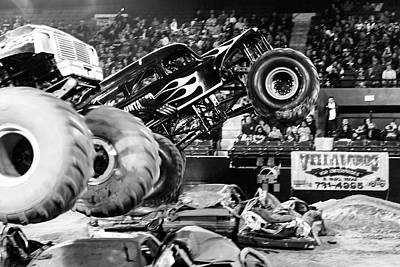 Photograph - Monster Trucks by SR Green