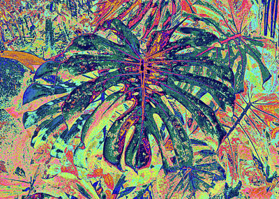 Digital Art - Monstera - Deep Green by Kerri Ligatich