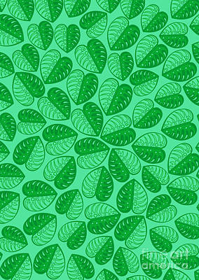 Digital Art - Monstera Leaf 2d Graphic Pattern  by Three second