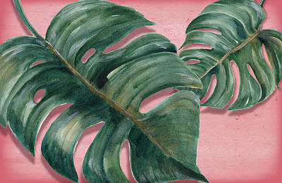 Flamingos Photograph - Monstera Leaf  by Mark Ashkenazi