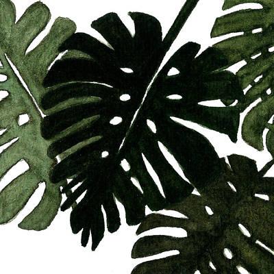 Painting - Monstera Leaves by Garima Srivastava