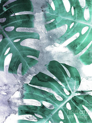Bananas Mixed Media - Monstera Theme 1 by Emanuela Carratoni