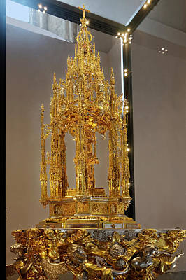 Photograph - Monstrance Of Arfe And Base by Sally Weigand
