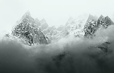 Photograph - Mont Blanc In Black And White by Katie Wing Vigil