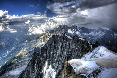 Mont Blanc Near Chamonix In French Alps Art Print by Shawn Everhart