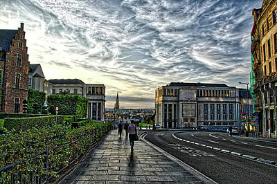 Photograph - Mont Des Arts Hdr by Ingrid Dendievel