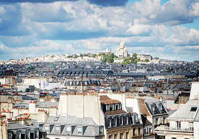 Paris Skyline Royalty-Free and Rights-Managed Images - Mont Matre Hill, Paris, France by Anastasy Yarmolovich