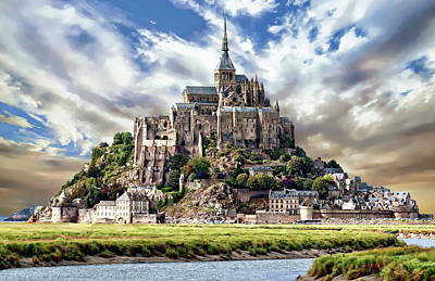 Photograph - Mont Saint-michel by Anthony Dezenzio