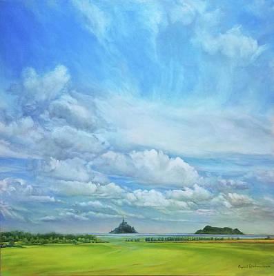Painting - Mont Saint Michel Et Tombelaine by Muriel Dolemieux
