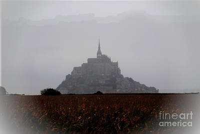 Photograph - Mont Saint-michel In Fog by Jacqueline M Lewis