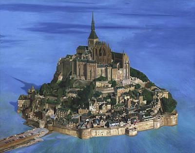 Tourist Site Painting - Mont Saint Michel by Philippe Plouchart