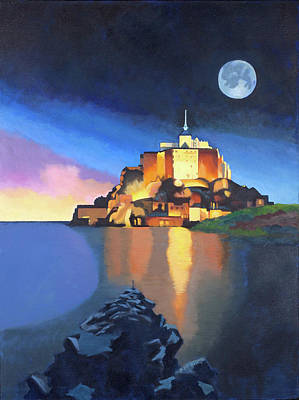 Painting - Mont Saint-michel by Susan McNally