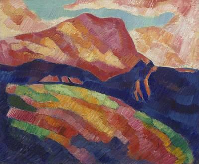 Amy Hamilton Animal Collage - Mont Sainte-Victoire by Marsden Hartley by Marsden Hartley