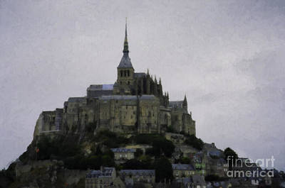 Photograph - Mont St Michel Painting by Donna Munro