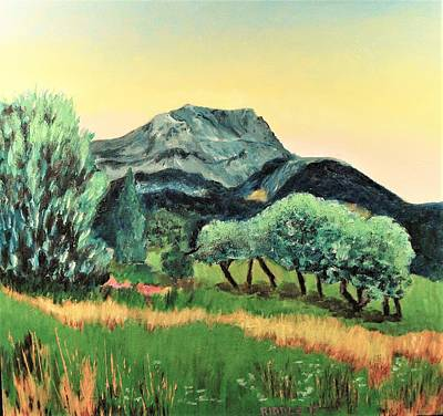 Painting - Mont Ste. Victoire by Jack Riddle