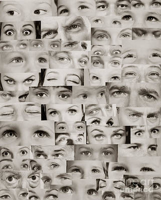 Different Points Of View Photograph - Montage Of Eyes, C.1960s by H. Armstrong Roberts/ClassicStock