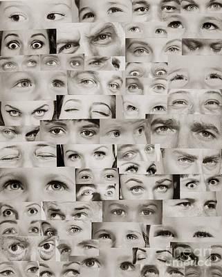 Montage Of Eyes, C.1960s Art Print