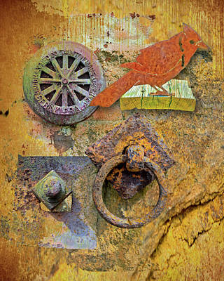 Photograph - Montage Of Rust by Larry Bishop