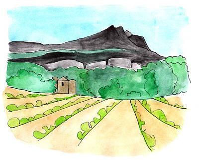 Painting - Montagne Sainte Victoire by Anna Elkins
