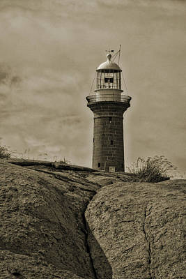 Montague Island Lighthouse - Nsw - Australia Art Print by Steven Ralser