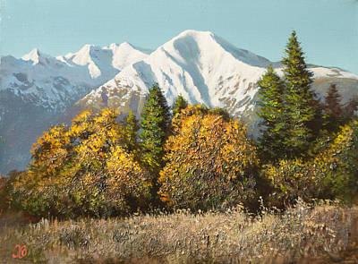 Graphics Painting - The Mountain Landscape by Oleg Khoroshilov