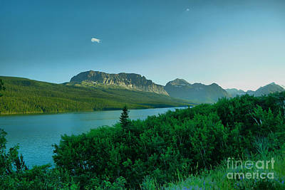 Photograph - Montains And A River by Jeff Swan