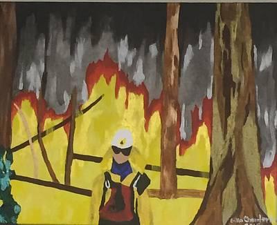 Painting - Montana 1994 by Erika Chamberlin