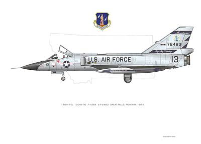 Digital Art - Montana Ang F-106 by Rick Blyseth