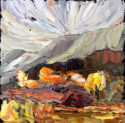 Painting - Montana Autumn by Carrie Jacobson
